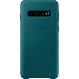 Samsung Leather Cover EF-VG973 für Galaxy S10 grün