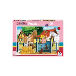Schmidt Spiele Puzzle Puzzle 100 Teile Bibi & Tina, Auf dem Martinshof, Puzzleteile