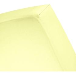 Spannbettlaken Renforcé, damai, für Topper gelb 160 cm x 200 cm