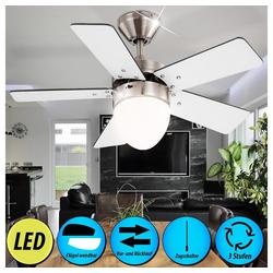 etc-shop Deckenventilator, LED 9,5 Watt Deckenventilator Ventilator mit Zugschalter und Beleuchtung