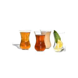 Blue Chilli Design Teeglas Design: Queen Ann (4-tlg), Kristallglas, Handgefertigt, Kristallglas, leicht und filigran, spülmaschinenfest