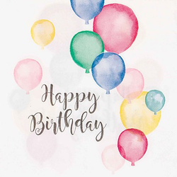 """Papierserviette """"Happy Birthday"""", Größe: 33 x 33 cm, 20 Stück"""