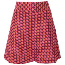 Guru-Shop Minirock Wenderock, Boho Minirock - grau/pink L