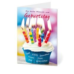 LUMA Geburtstagskarte Kerzen DIN B6