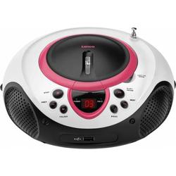 4 Stück Lenco UKW-Radio CD/MP3 tragbar SCD-38 USB pink