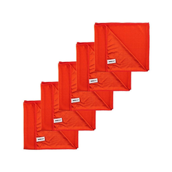 Kochblume Geschirrtuch Poliertuch 50 x 60 cm, (Spar-Set, 5-tlg), 280g/qm Qualtität rot