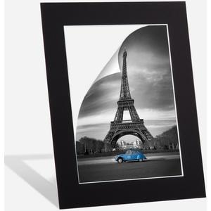 Passepartout Schwarz in 21x30 cm Außenmaß mit Ausschnitt für Bildgröße 13x18 cm