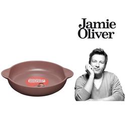 JAMIE OLIVER Auflaufform Jamie Oliver Auflaufform Gratinform Ofenform Backform Steingut Braun Ø 23 cm, Steingut