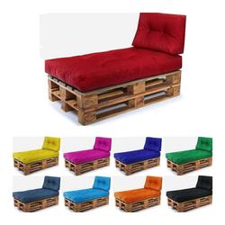 Easysitz Sitzkissen Palettenkissen Set 2, 120 x 80 cm für Europaletten rot