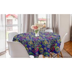 Abakuhaus Tischdecke Kreis Tischdecke Abdeckung für Esszimmer Küche Dekoration, Paisley Klassische persische Welsh