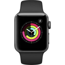 Apple Watch Series 3 GPS 38 mm Aluminumgehäuse space grau mit Sportarmband schwarz