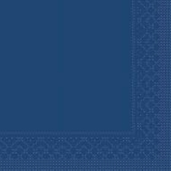 Mank Tissue Basics Servietten, 40 x 40  cm, 1/8 Falz, 3-lagig, 1 Karton = 6 x 100 Stück = 600 Servietten, blau