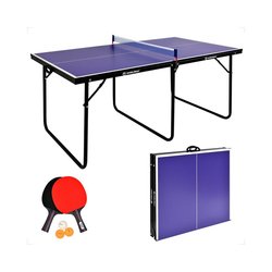 WIN.MAX Tischtennisplatte WIN.MAX Tischtennisplatte Inklusive einem Paar Tischtennisschläger und 3 Tischtennisbällen, Klappbare Tischtennistisch mit Netz, TT-Platte für Indoor