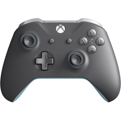 Microsoft Wireless Blue-Grey Gamepad Xbox One, PC Grau, Blau
