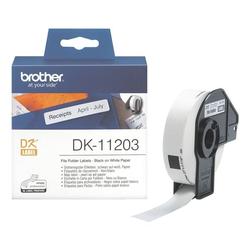 Ordner-Etiketten »DK-11203« weiß, Brother