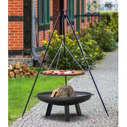Grillset 2: Schwenkgrill - 1,80m incl. Grillrost und Feuerschale (Größe Grillrost & Feuerschale: Ø 60cm Grillrost / 70cm Feuerschale)