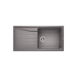 Single Bowl Grey Composite Kitchen Sink with Reversible Drainer - Blanco Sona  Xl 6 S Silgranit Puradur Ii