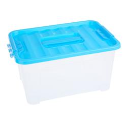 VBS Aufbewahrungsbox (2 Stück), mit Deckel, 32,5 cm x 23,5 cm x 17 cm