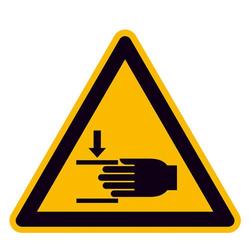 Warnschild Handverletzungsgefahr Aluminium 200mm ISO 7010 1St.