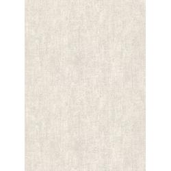 WOW Vliestapete Textil Uni, uni, (1 St), Creme - 10m x 1,06m