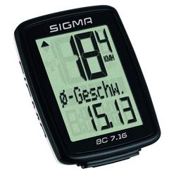 Sigma BC 7.16 - Tacho - schwarz