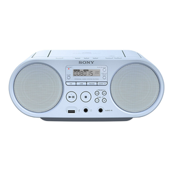 Sony ZS-PS50 Boombox (AM-Tuner, FM-Tuner, 4 W, CD-Laufwerk, Front-USB, MP-3) blau