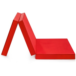 Badenia Gästematratze, 3-teilige Klappmatratze, 190 x 60 cm, rot