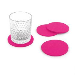 4 Filz Untersetzer Glasuntersetzer rund - pink