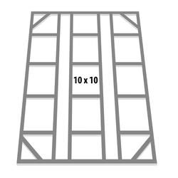 "Globel Industries Fundamentbodenrahmen für Gerätehaus ""Dream 1010"",aluminium blank,299 x 295 cm"