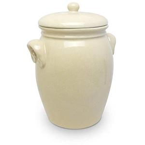 Original K&K Rumtopf 7,0 Liter beige - Form 2 / Mehrzwecktopf/Keramiktopf