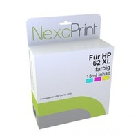NexoPrint Druckerpatrone für HP 62XL farbig - NX-C2P07AE