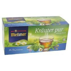 Meßmer Kräutertee Kräuter pur würzig frischer Genuss 25 Teebeutel