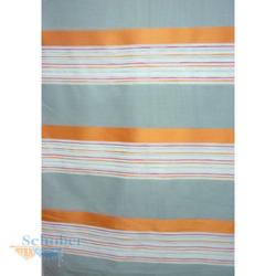 Deko Stoff Gardine Vorhang Streifen quer grau orange pink, Reststück 7,4 m