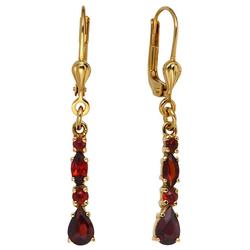 JOBO Paar Ohrhänger, 375 Gold mit Granat