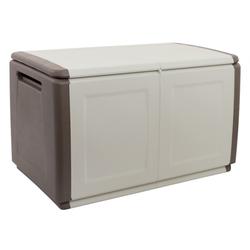 Aufbewahrungsbox mit deckel aus kunststoff, 960 x 570 x 530 mm, beige
