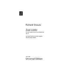 2 Lieder  für tiefe Stimme und Klavier. Richard Strauss  - Buch