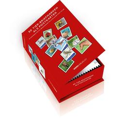 Postkartenbox 50 Tier-Briefmarken als Postkarten