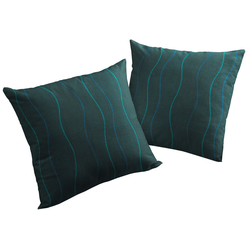 Wirth Kissenhüllen Sepino blau 50 cm x 50 cm