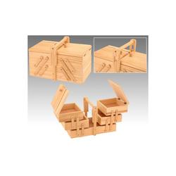 BigDean Nähkästchen Nähkasten Nähzubehör Nähbox Nähkiste klappbar Holz