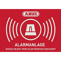 ABUS AU1422 Warnaufkleber Alarmanlage Sprachen Deutsch (B x H) 148mm x 105mm