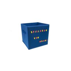 HTI-Line Aufbewahrungsbox Aufbewahrungsbox mit Buchstaben Paloma (1 Stück), Stoffbox blau