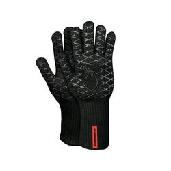 """Grill-Handschuhe """"Premium BBQ"""" aus Aramid/Nomex, Schwarz/ Rot, 2er-Set, Größe 10"""