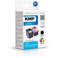 KMP H135V kompatibel zu HP 301 schwarz + CMY