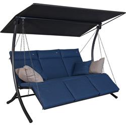 Angerer Freizeitmöbel Hollywoodschaukel Swing Smart denim blau Hollywoodschaukeln Gartenmöbel Gartendeko