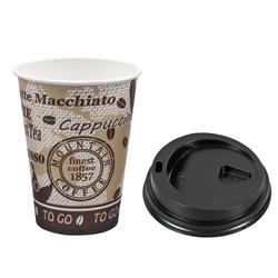 Kaffeebecher Premium mit Deckel, `Coffee to go`, Pappe besch., 250 ml,  75 Stk.