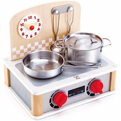 Hape Kinder-Küchenset 2-in-1 Küchen- & Grill-Set, 6-tlg.