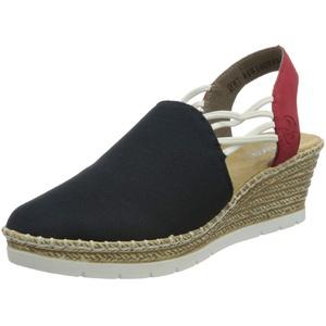 Rieker Damen 619V0 Sandale, Blau, 37 EU