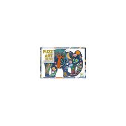 DJECO Puzzle Kunstpuzzle Elefant, 150 Teile, Puzzleteile
