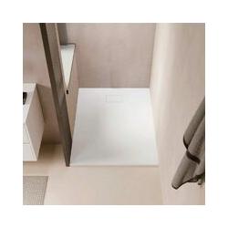 Duschwanne bodengleich PIATTO aus SoliCast® weiß 90 cm x 160 cm