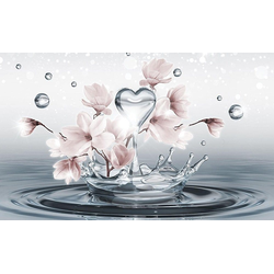 Welt der Träume Vliestapete, Fototapete Vliesfototapete Magnolie im Wasser, Muster 10163 Consalnet, glatt, floral 254 m x 184 m